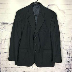 Oleg Cassini | Black| Wool | Blazer | 43 R